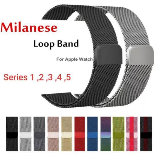 สาย applewatch สาย applewatch แท้ 🌈พร้อมส่งในไทย🌈สายapple watch milanese loop ใส่ได้ทุกซีรีย์ S.1-6