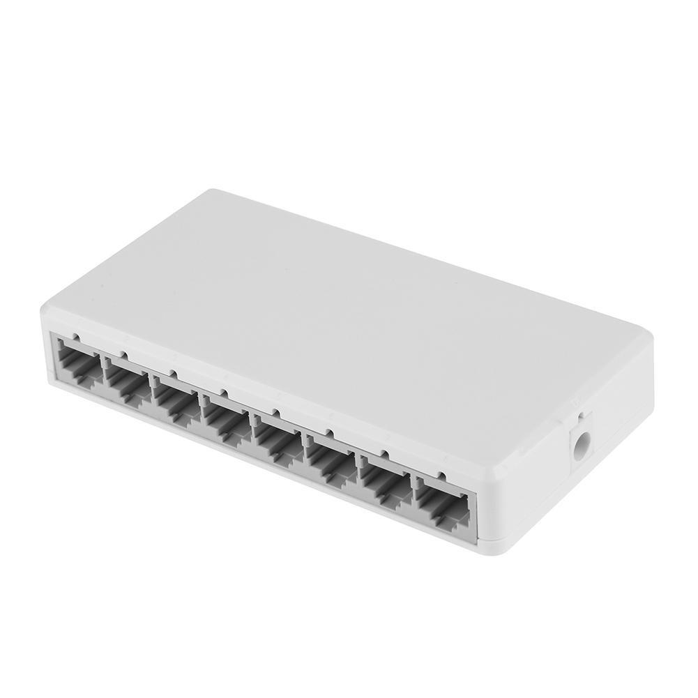 1X 8 Ports Gigabit Network Switch Desktop RJ45 Ethernet 10//100Mbps Hub Switcher