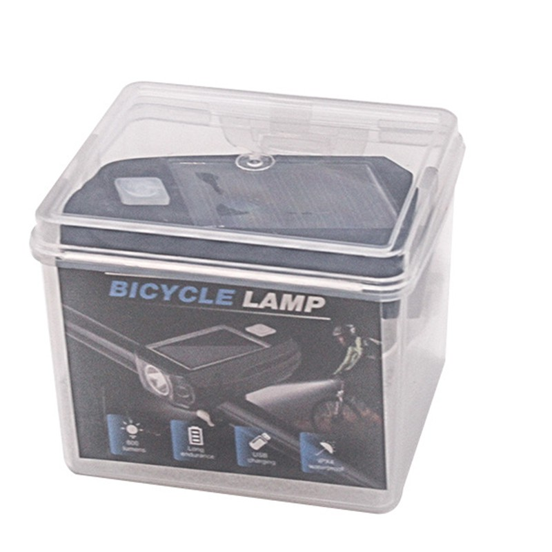 Bicycle Bright 4 LED Solar Powered USB Rechargeable Head light Front Light