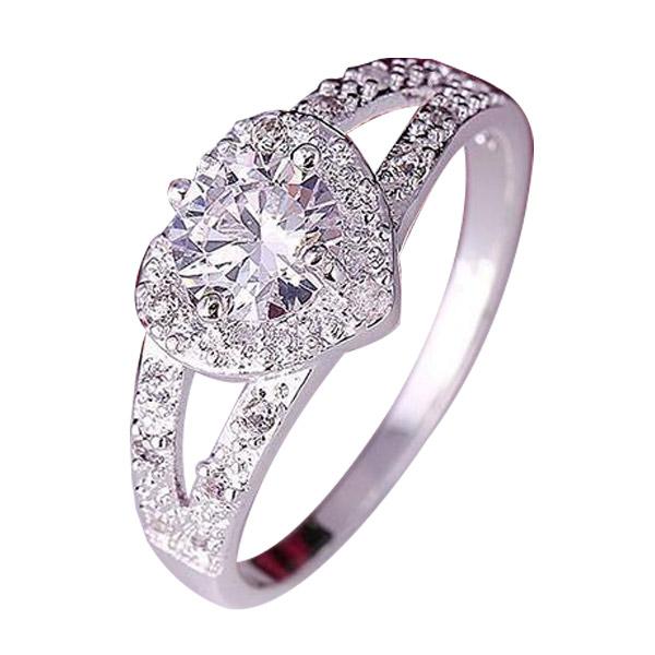 แหวนเงินแต่งคริสตัล แหวนแต่งงาน