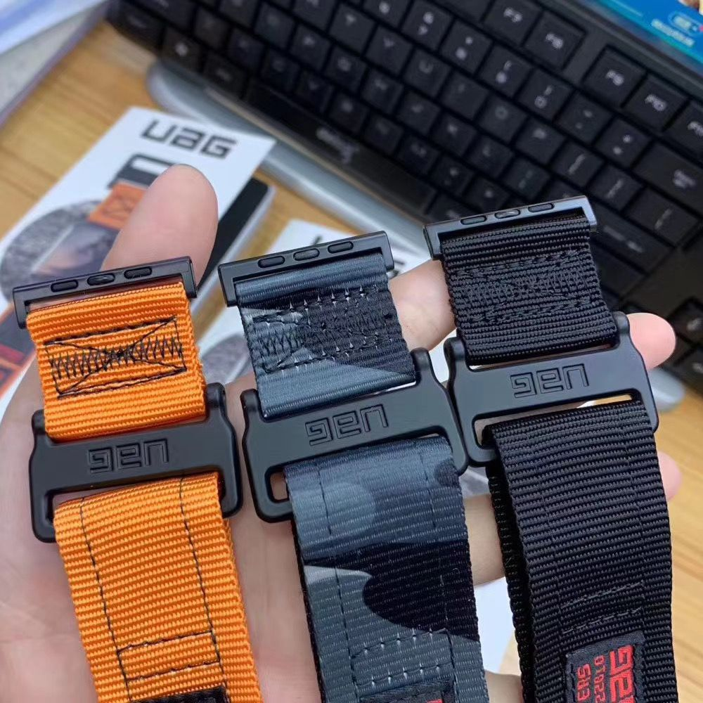 Outdoor Fastener Nylon Strap For Apple Watch Band 6 SE 5 4 40mm 44mm Sports Loop Bracelet For iWatch Series Bands 3 2 38