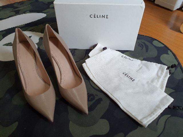 ส่งฟรี รองเท้าส้นสูง Celine สี taupe size 39 รองเท้าแบรนด์เนมแท้ รองเท้าส้นเข็ม รองเท้าคัชชู