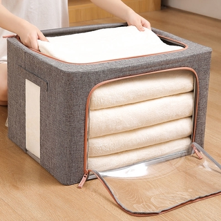 Storage Box Collect Clothes Cotton and Linen Multi-Functional Sundries Quilt Storage Box Clothing Storage Box Oversized