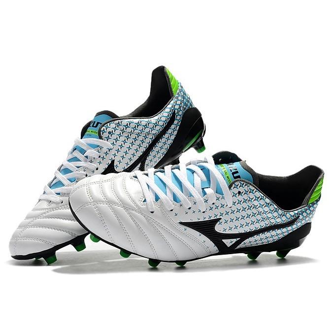 MIZUNO MORELIA NEO II FG รองเท้าฟุตบอลคุณภาพสูง รองเท้าฟุตบอลกลางแจ้ง รองเท้าสตั๊ดหุ้มข้อ ยี่ห้อ คุณภ