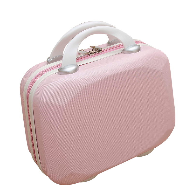 กระเป๋าเครื่องสำอาง มินิเดินทางกรณีเครื่องสำอาง14กล่องพกพานิ้วกระเป๋าเดินทางขนาดเล็กหญิงเกาหลีน่ารัก16นิ้วความจุสูงเกาหล