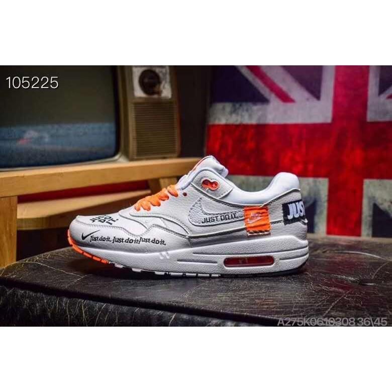 Nike Air Max 1 Lx Just Do It รองเท้ากีฬาสีขาวส้ม