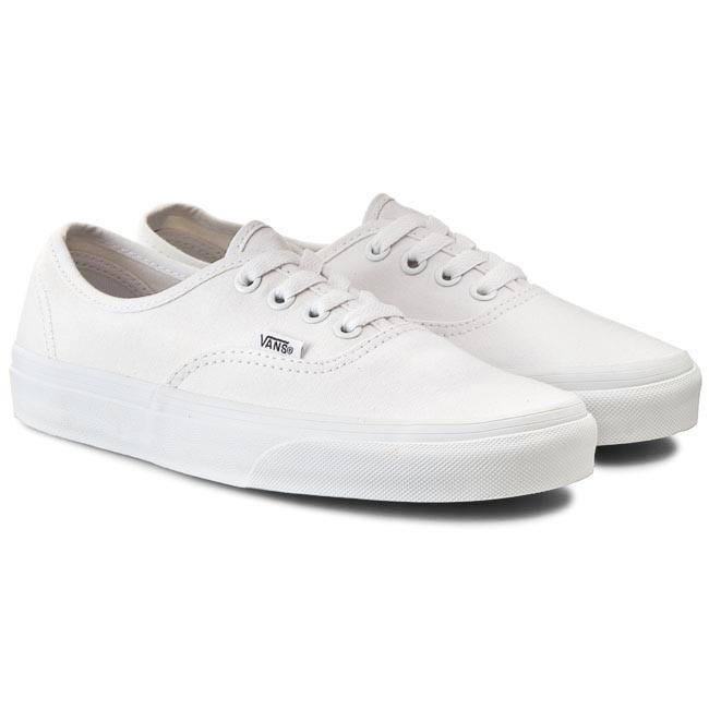 VANS MEN/WOMEN รองเท้าผ้าใบผู้ชาย/ผู้หญิง รุ่น UA AUTHENTIC TRUE WHITE -  VN000EE3W00 (WHITE) | Shopee Thailand