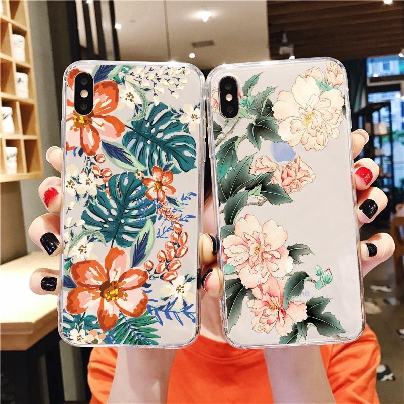 Original design flower transparan Soft Case Samsung J8 2018 J6 2018 J6Plus/J6+ J4 2018 J4Plus/J4+ J2PRO 2018 J7Plus J7Pro/J7 2017 J5Pro/J5 2017 J3Pro/J3 2017 J7Prime J5prime J2prime J710/J7 2016 J510/J5 2016 Note9 Note10 Note8 Note10Plus A51