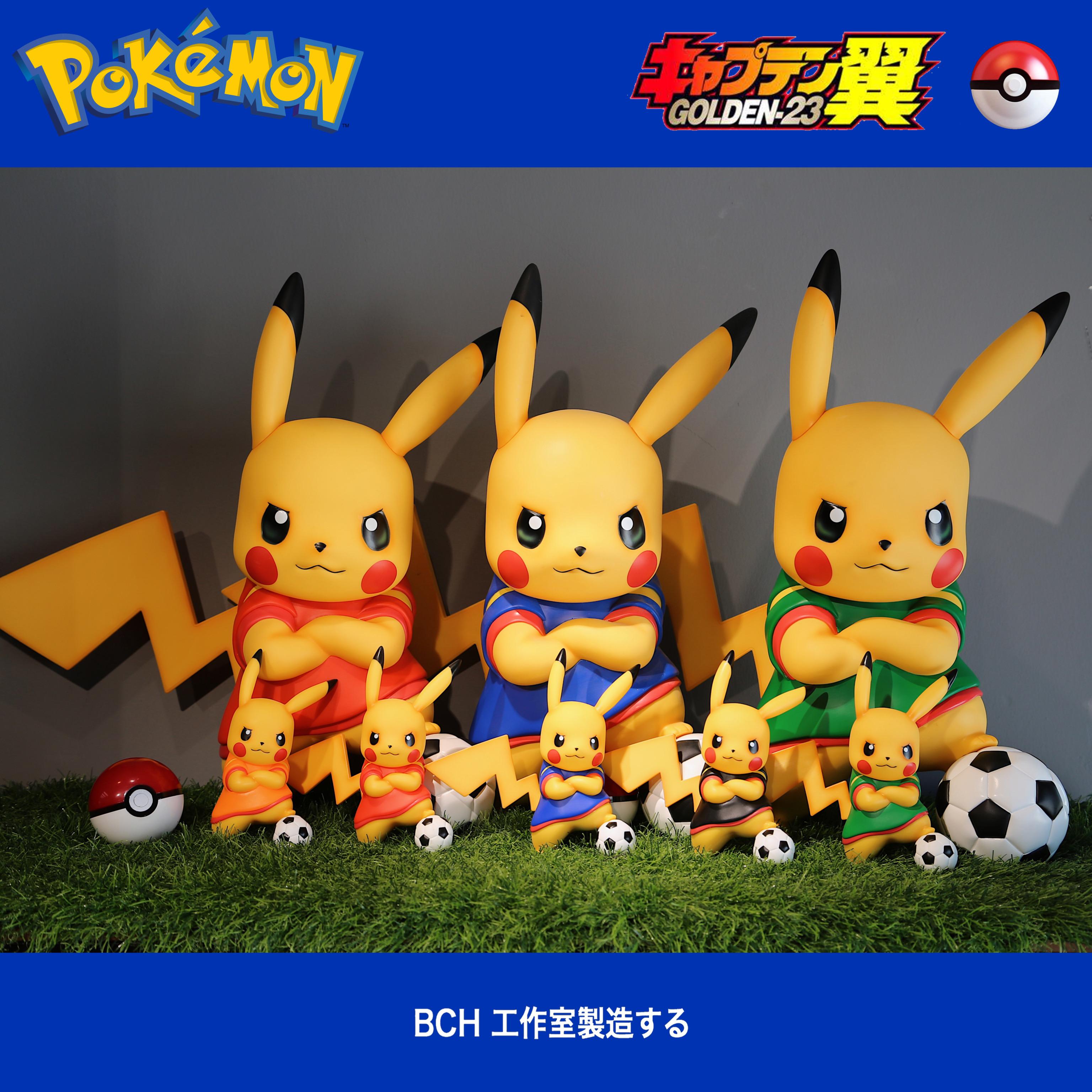 ฟิกเกอร์ Pok Mon Football Pikachu Cro Plum World Cup ของเล่นสําหรับเด็ก