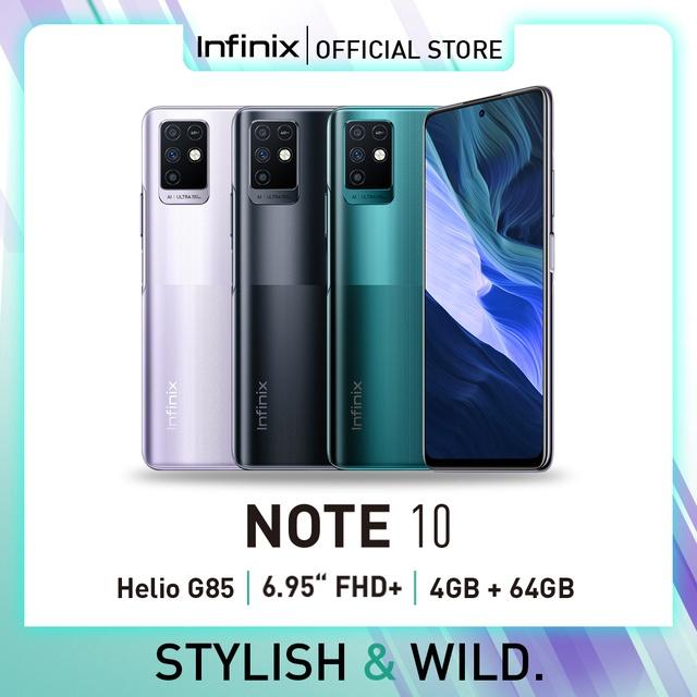 "Infinix Note 10 4/64GB - Helio G85 - 6.95"" FHD+ 90 Hz - 48MP Triple C"