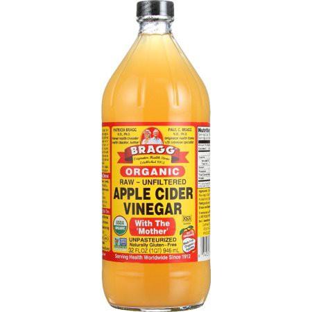 น้ำส้มสายชูแอปเปิ้ล BRAGG Apple cider vinegar 946ml /473ml