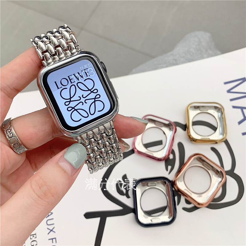 APPLE WATCH case is suitable for iWATCH 1/2/3/4/5/6 SE generation TPU anti-drop case watch soft case 38mm 40mm watch fra