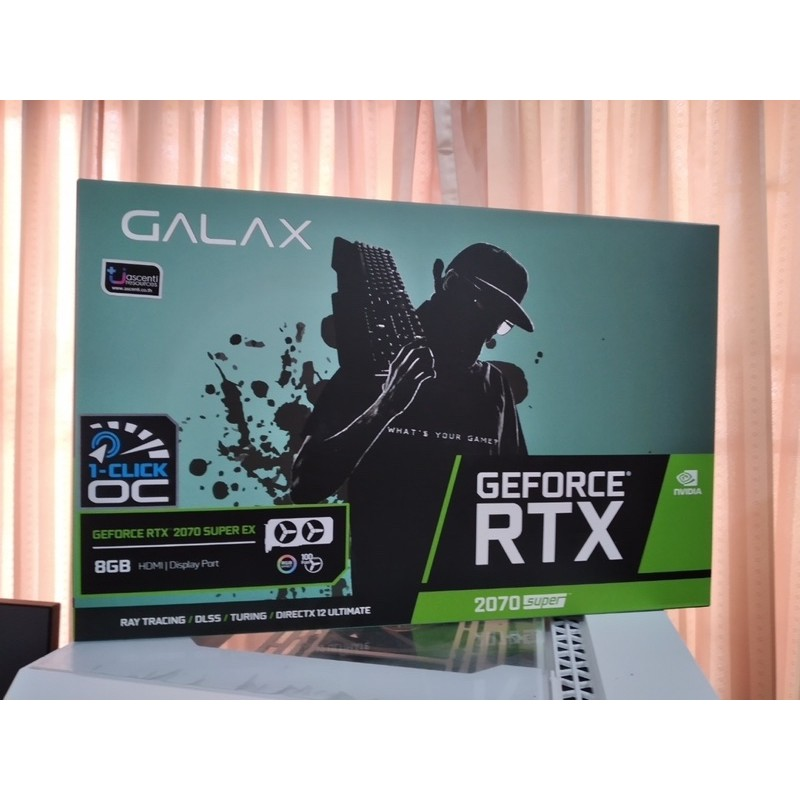 GALAX RTX 2070 Super EX - 1 Click OC (สินค้าใหม่ได้จากการเคลม,มีประกัน)