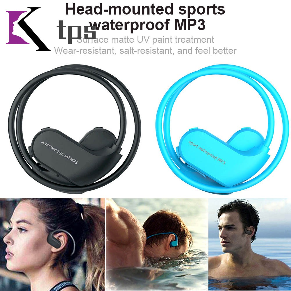 IPX8 Waterproof Wearable MP3 Player MP3 Earphones for Running Swimming