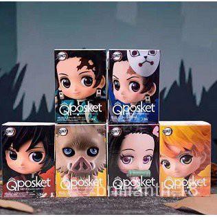 Demon Slayer Mini Figure Toy Set แว่นดาบ figureModel play bear Bandai figuarts mini Demon Slayer Blade Hu Butterfly