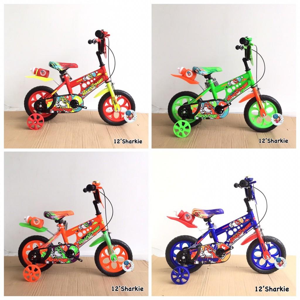?รุ่นใหม่ จักรยานเด็ก 12นิ้ว ล้อตัน ล้อโฟม รถจักรยานเด็ก Robot Jasmine Sharkie