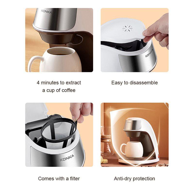 เครื่องต้มกาแฟสด เครื่องชงกาเเฟ เครื่องชงกาแฟ  300มล เครื่องชงกาฟสด เครื่งชงกาแฟสด เครื่องทำกาแฟauto เครื่องชงกาแฟพกพา เ