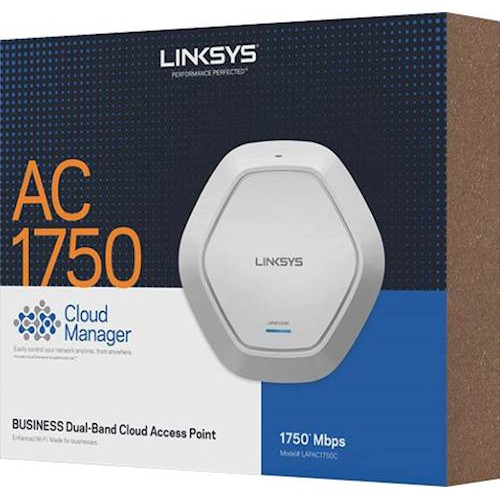 Linksys Business LAPAC1750C AC1750 Dual Band Cloud Wireless Access Point