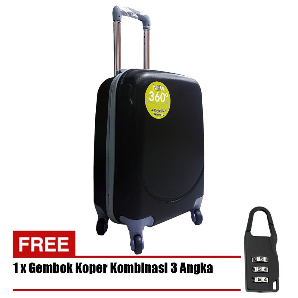 กระเป๋าเดินทางแบบแข็ง 18 นิ้ว 705-18 - สีดํา + กุญแจ