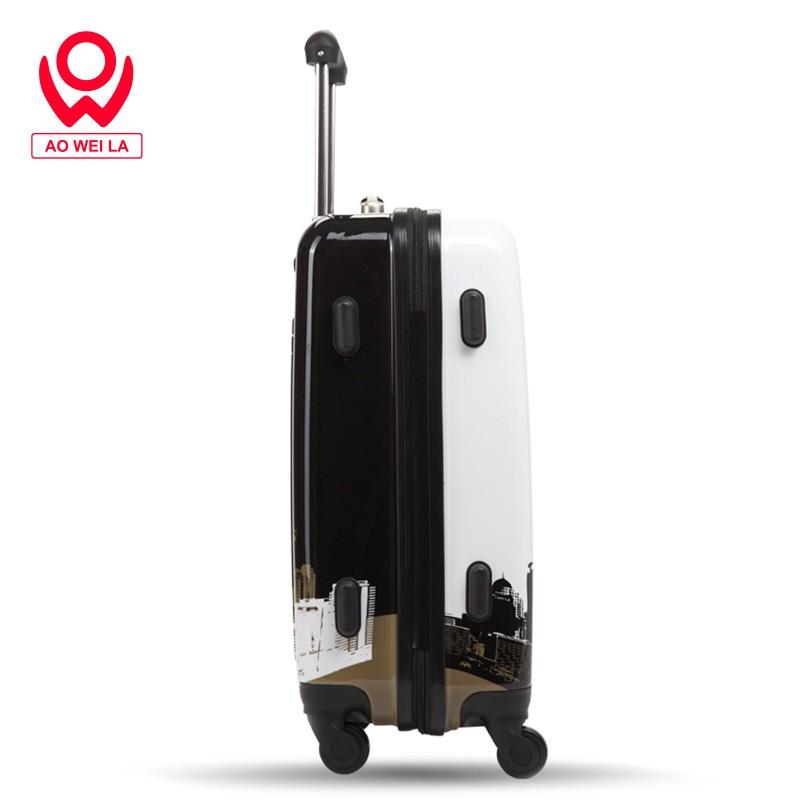 พิมพ์ABS+Cที่กำหนดเองบินล้อรถเข็นกรณีกระเป๋าเดินทางกินนอนกระเป๋า20นิ้ว24นิ้วรหัสผ่านกระเป๋าเดินทาง
