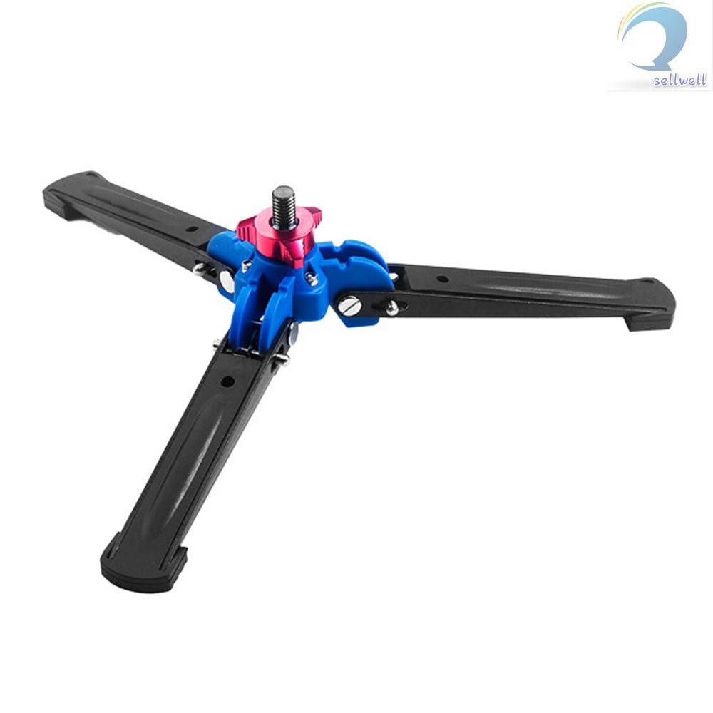 Andoer Three Leg Camera Mini Tripod Stand Monopod Unipod Base Holder Support with 3//8 Screw for Tripod Fluid Ball Head
