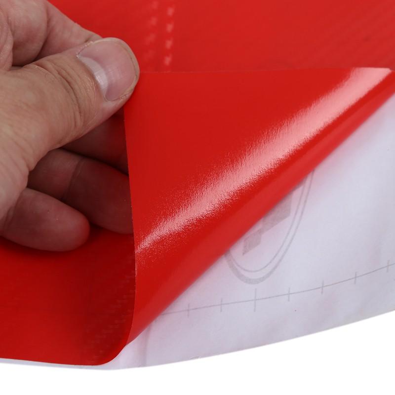 3D Car Accessories Interior Panel Red Carbon Fiber Vinyl Wrap Sticker 30cmX127cm