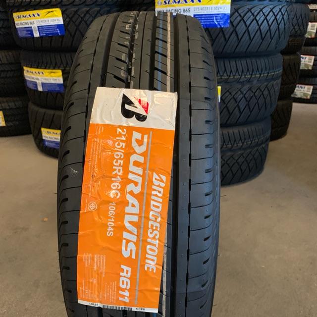 ยางใหม่ Bridgestone Duravis R611 215/65R16 จัดส่งฟรีทั่วประเทศ