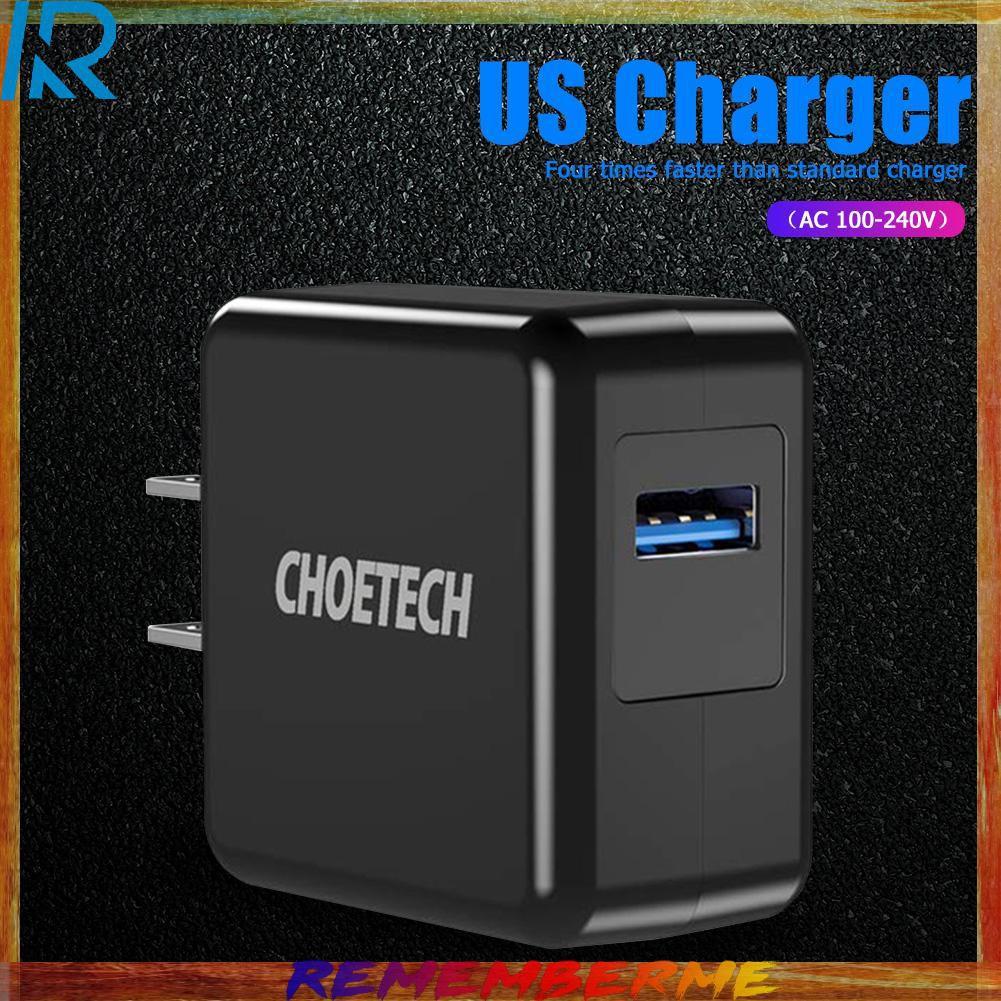 choetech qc 3 . 0 usb อะแดปเตอร์ชาร์จไฟติดผนัง us plug 18w