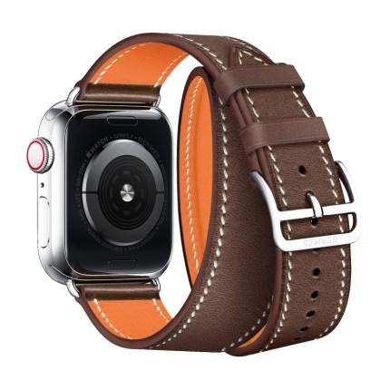☄ミบังคับ Apple Watch iwatch6สาย applewatch3/4/5/SE/6สายรัดข้อมือหนัง iPhone series5เปลี่ยนเข็มขัดแฟชั่น unisex Apple Wat