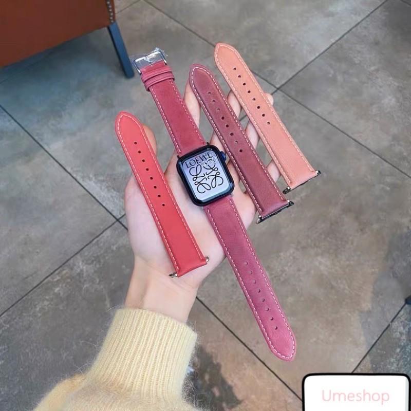 สายนาฬิกา สายสำหรับ AppleWatch แบบ หนัง  38/40, 42/44 mm. Series 6 /5/4/3/2/1 series SE สายหนังแบบใหม่!!!BNBN