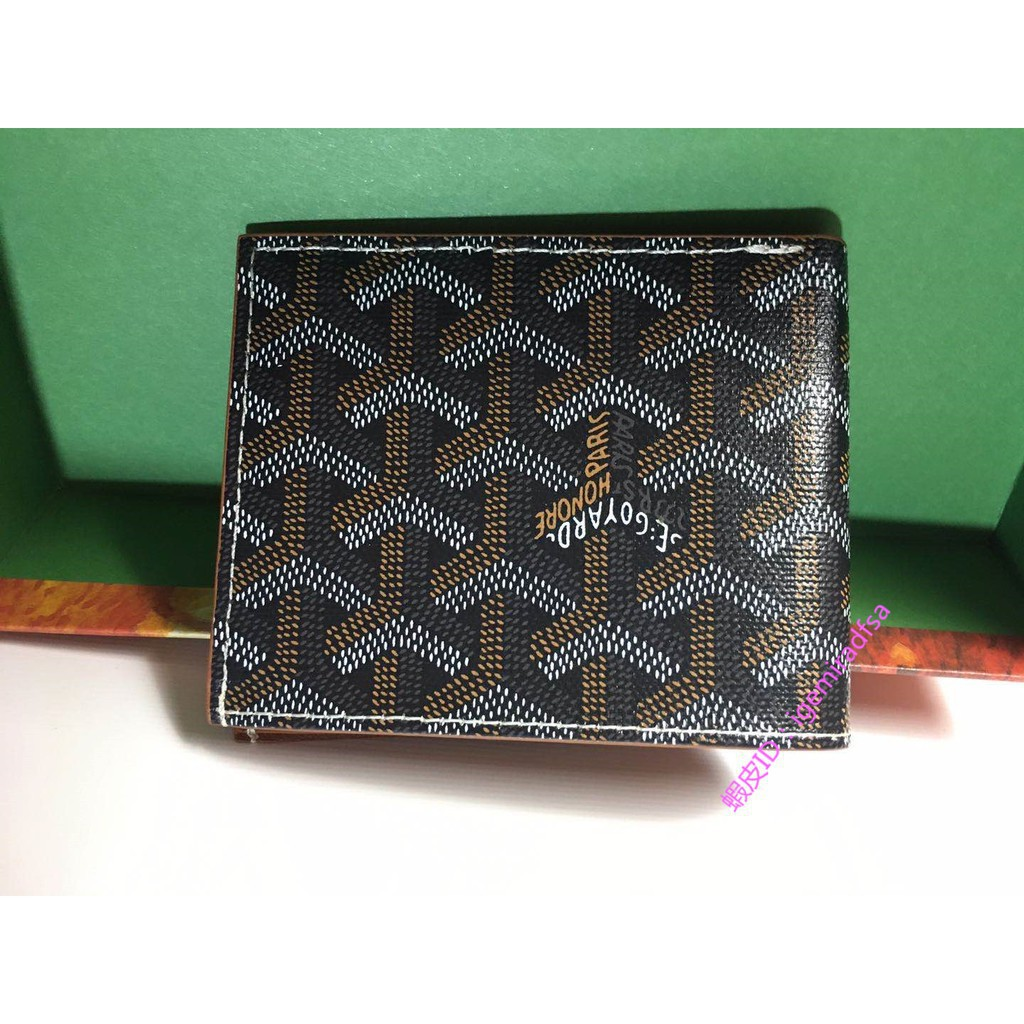 [VO]	[เคาน์เตอร์ของแท้] GOYARD Goya Short Men's and Women's Wallet Multi-card Bag