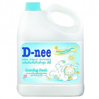 D-Nee Fabric Softener Baby Scent MORNING FRESH Color Blue Size 3,000 ml.