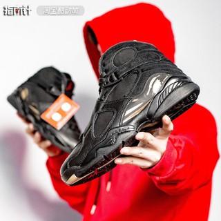 cheap for discount 643de 65ab9 รองเท้ากีฬา Air Jordan 8 Ovo aj8 Black Golden Owl joint AJ 1239-04