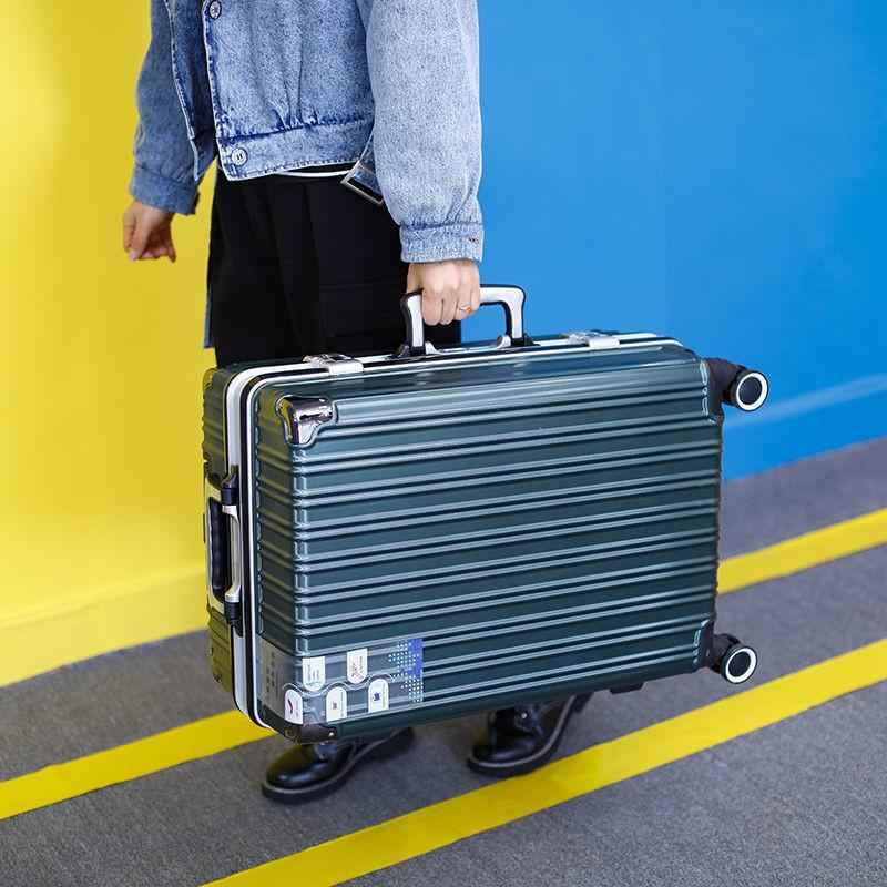 ❁> กล่องอลูมิเนียมกล่องรถเข็น 24 นิ้วความจุขนาดใหญ่กระเป๋าเดินทางชายกล่องเดินทางหญิงรหัสผ่านนักเรียนกล่อง 20 นิ้วแพคเกจ