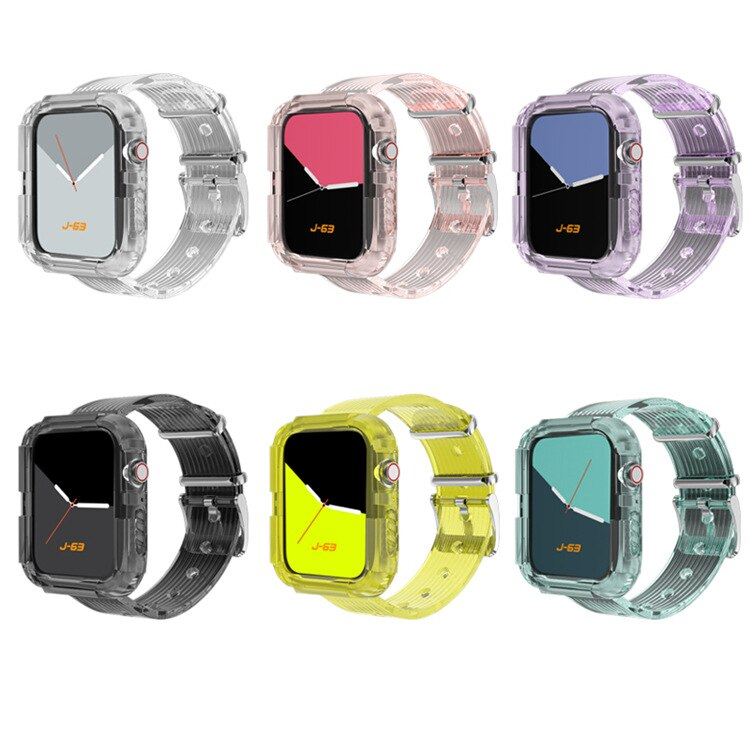 TPU Apple watch protective case, 40mm, 42mm, 38mm and 44mm Apple watch strap 6, 5, Se, 4, 3, sports strap and sheath