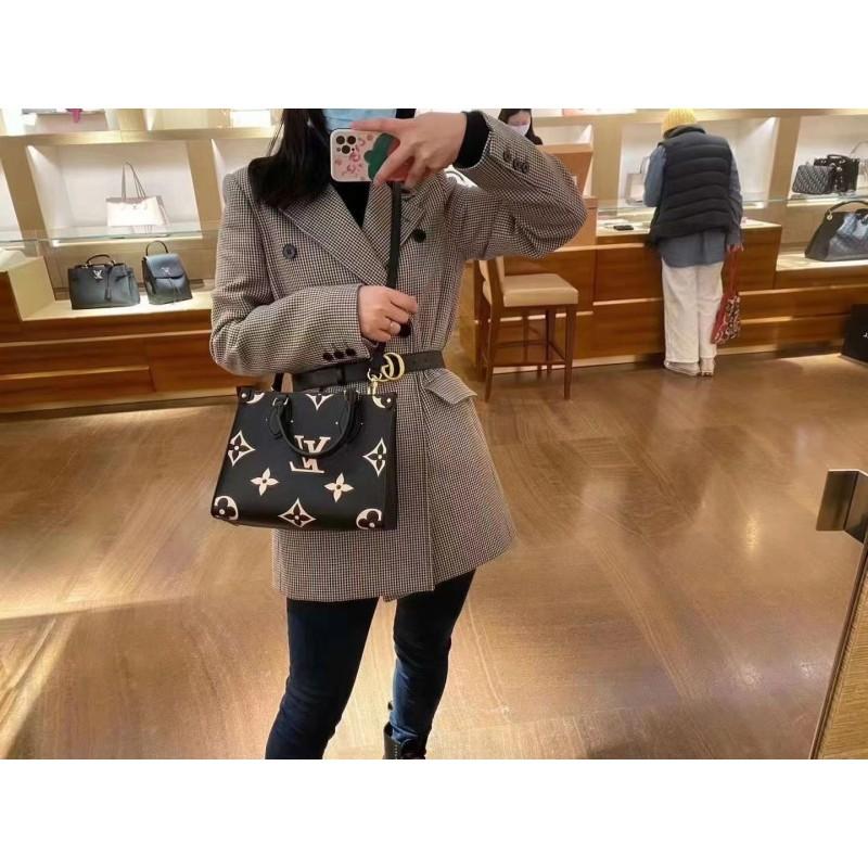 え۵กระเป๋ากระเป๋าเดินทาง  กระเป๋าเป้สะพายหลัง★★★❤🔥🔥ซื้อ LV Louis Vuitton กระเป๋าผู้หญิงใหม่ onthego กระเป๋าโท้ทใบเล็กสะ