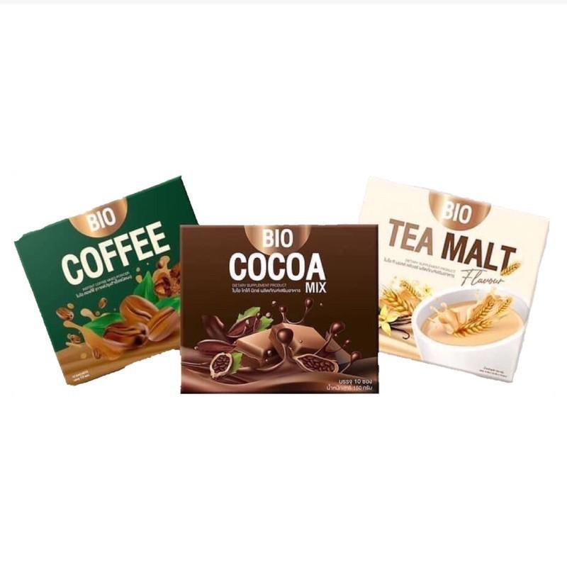 กาแฟ เนสกาแฟ เมล็ดกาแฟ Bio Cocoa Mix ไบโอ โกโก้ มิกซ์ / Bio Coffee ไบโอ กาแฟ  / Bio Tea malt ไบโอ ชาไวท์มอลล์ พร้อมส่ง 3
