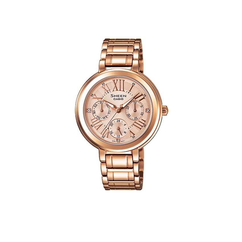 Casio นาฬิกาผู้หญิง สายสแตนเลส รุ่น SHE-3034PG-9A - Gold