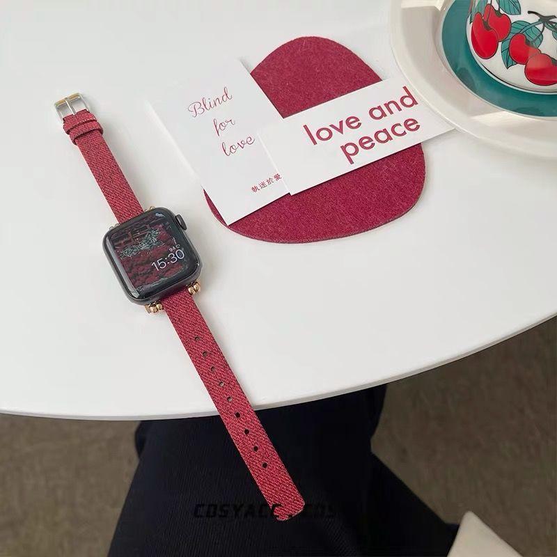 ✗∋▨ใช้ได้กับสาย Applewatch สายนาฬิกา Applewatch รุ่น SE6/5/4/3 ผ้าใบ Houndstooth อย่างดี สายนาฬิกา Apple iWatch
