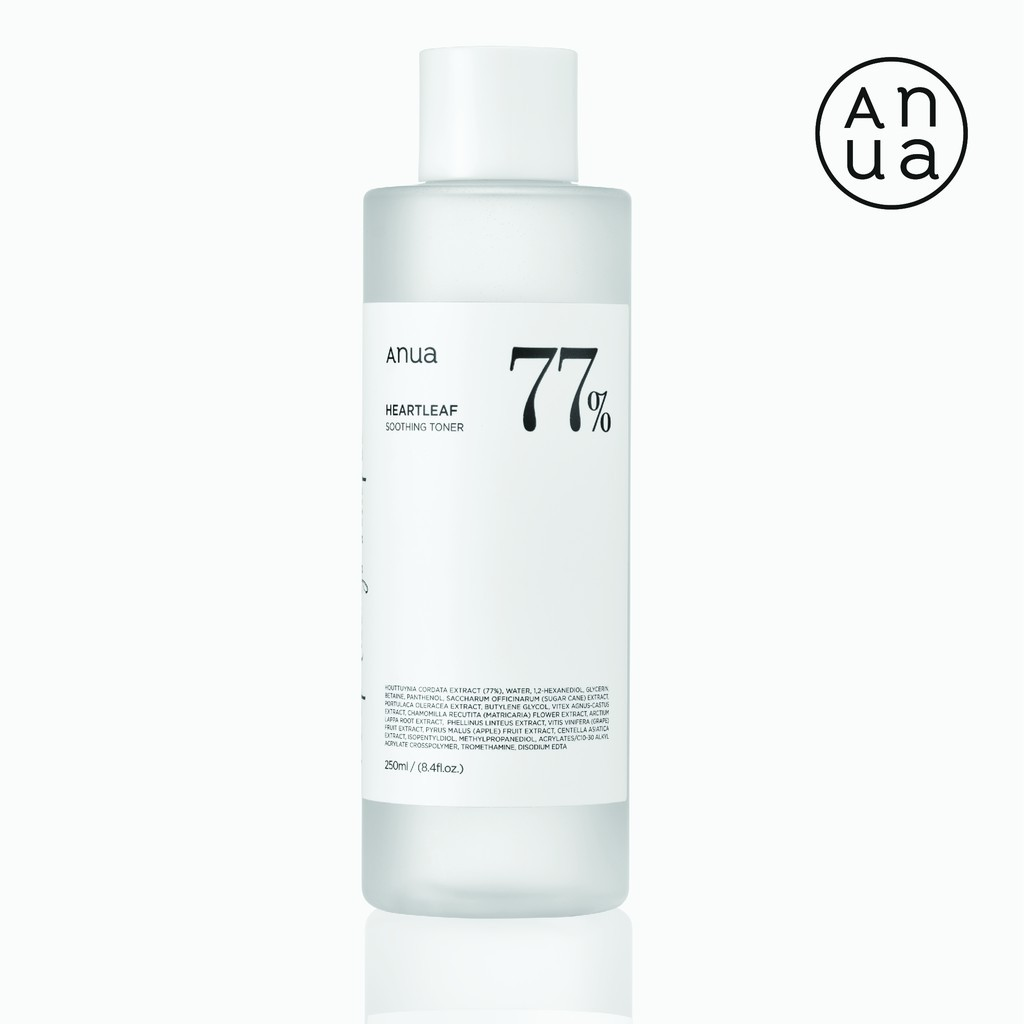☊ANUA : HEARTLEAF 77% SOOTHING TONER 250 ml