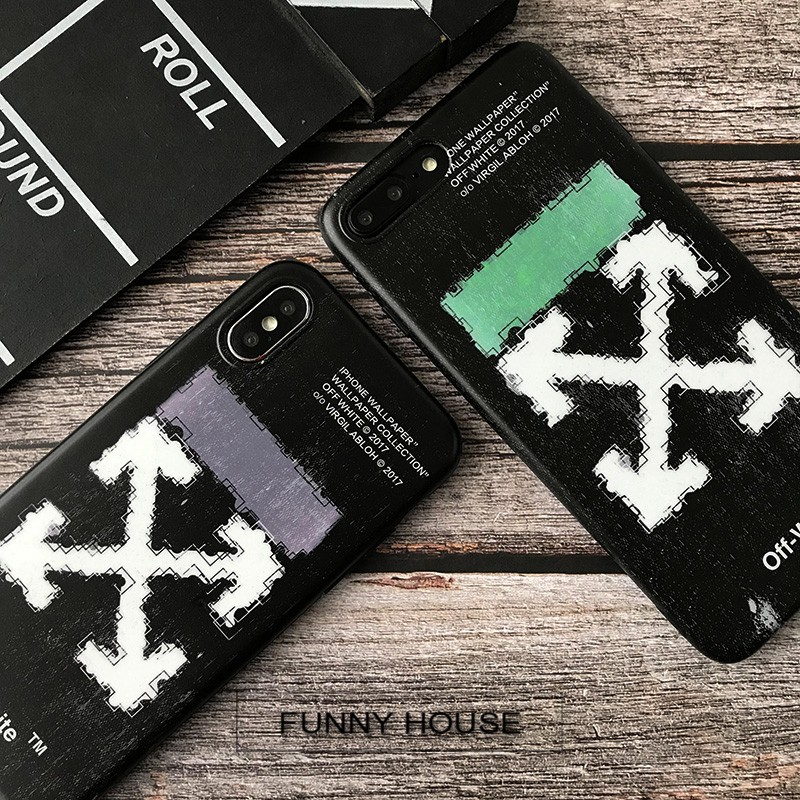 Offwhite Iphone Xs Max Phone Shell Iphone7plus Couple Xr Creative 6s Soft Set 8