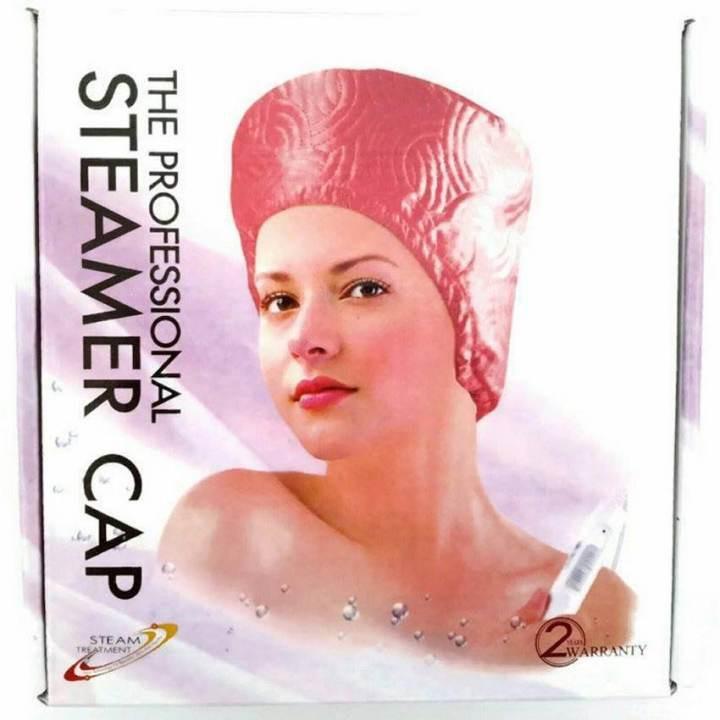 หมวกอบไอน้ำ บำรุงเส้นผม / สีชมพู