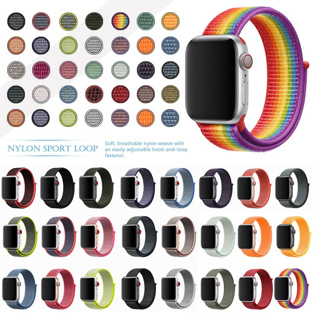สายนาฬิกา สาย applewatch Apple Watch Band  Nylon Loop Sport Fashion for iwatch Series SE 6 5 4 3 2 1 40 มม. 44 มม 42 มม. 38 มม.