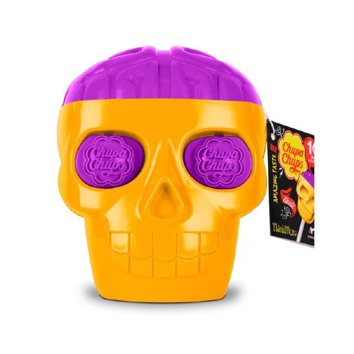 อมยิ้ม Chupa Chups 3D Skull หัวกะโหลกเล็ก พร้อมส่ง (Chups  skull Lollipops)