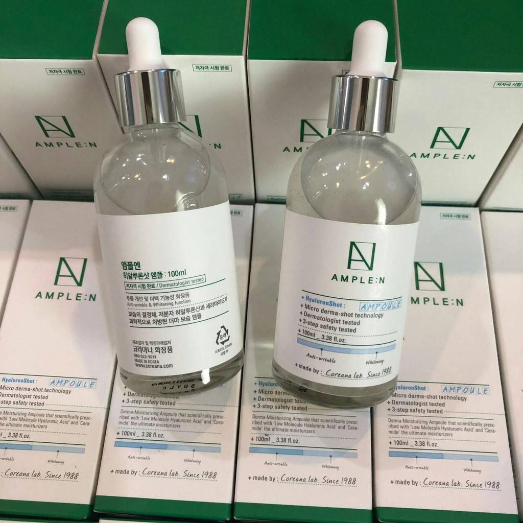 �ล�าร���หารู��า�สำหรั� Coreana Ample :N Hyaluron Shot Ampoule 100 ml.