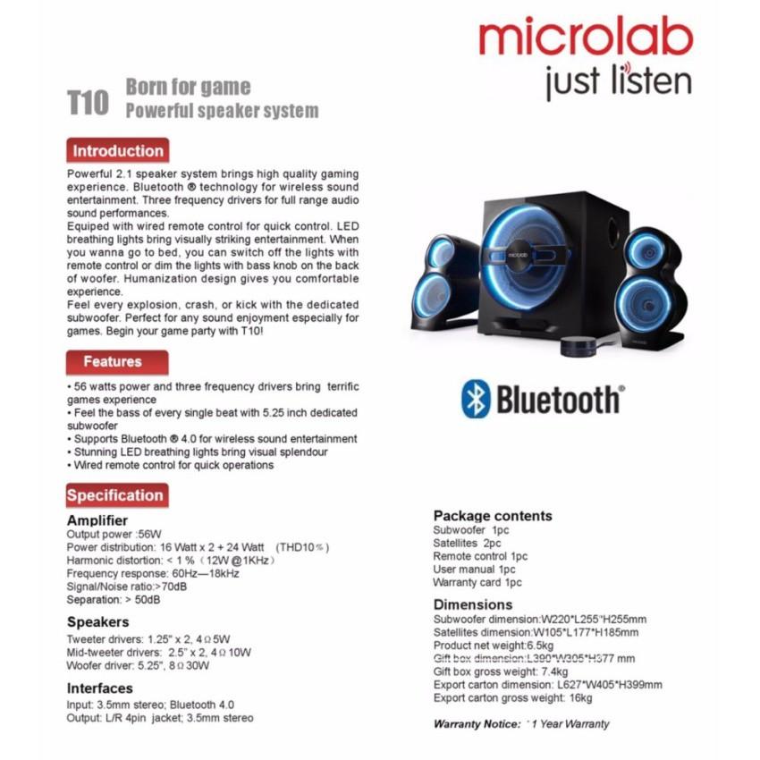 T10 Bluetooth Manual