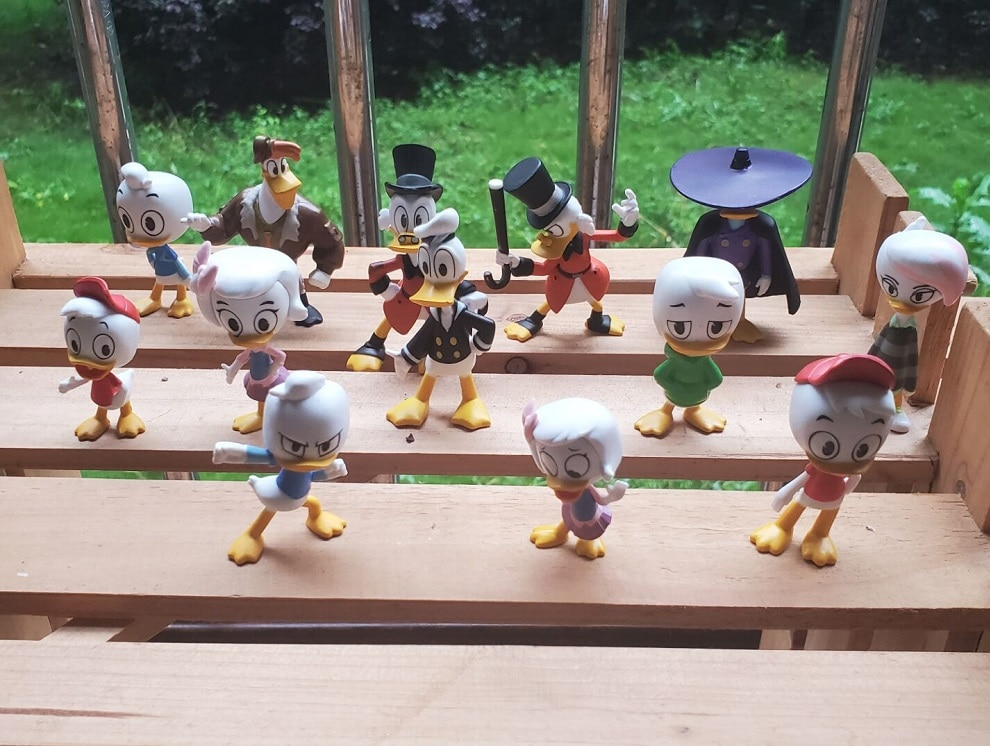 (In Stock)Garage Kit Classic Toy Duck Tales Mini Doll Donald Duck Movable Joints Action Figure Collectible Model Loose T
