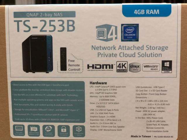 Qnap 2-bay NAS TS-253B 4GB (Clearance) | Shopee Thailand