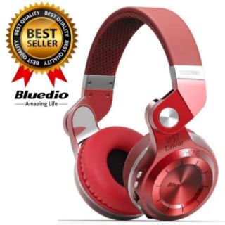 Review Bluedio หูฟังบลูทูธ Bluetooth 4.1 HiFi Stereo Headphone Super Bass Gameing รุ่น T2+ (Red)