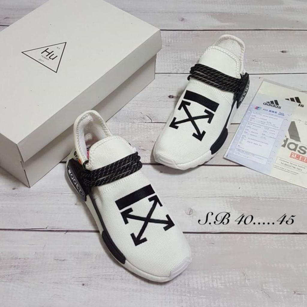 outdoor รองเท้าสปอตร์ รองเท้าผู้ชาย Adidas NMD HumanRace x Off White ใส่วิ่ง ใส่เที่ยว ใส่สบายutdoor รองเท้าสปอตร์ รองเท